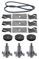 Husqvarna Lgt2554 54 Mower Deck Parts Rebuild Kit Spindles Blades Free Shipping
