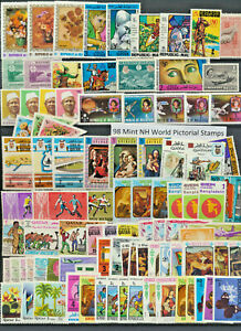 British-Colonial-Mint-NH-Collection-98-Different-Colorful-Topical-Stamps-Lot815