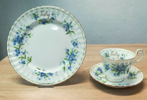 Royal Albert Flower of the Month July Forget Me Not