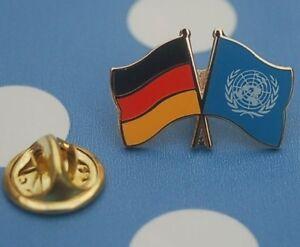 Freundschaftspin-Deutschland-UNO-Vereinte-Nationen-Pin-Button-Badge-Anstecker