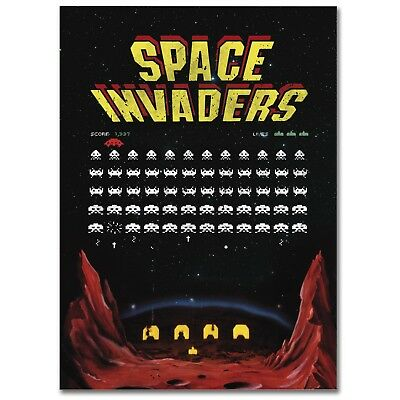 "Poster ""space Invaders"" Stampa Su Carta Fotografica A Great Variety Of Models Home & Garden"