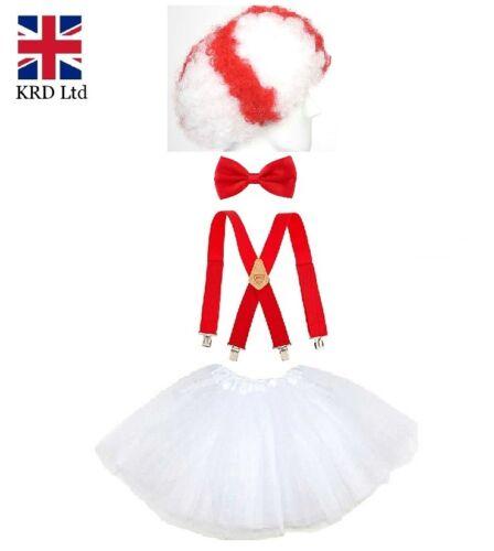 ENGLAND THEME TUTU COSTUME Party Fancy Dress Royal Wedding Accessory Lot UK