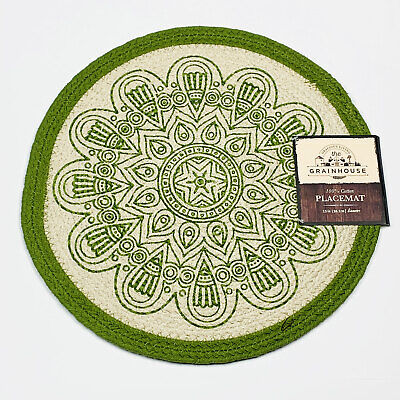 Poinsettia Melody Baylor Green Christmas Tapestry Placemat