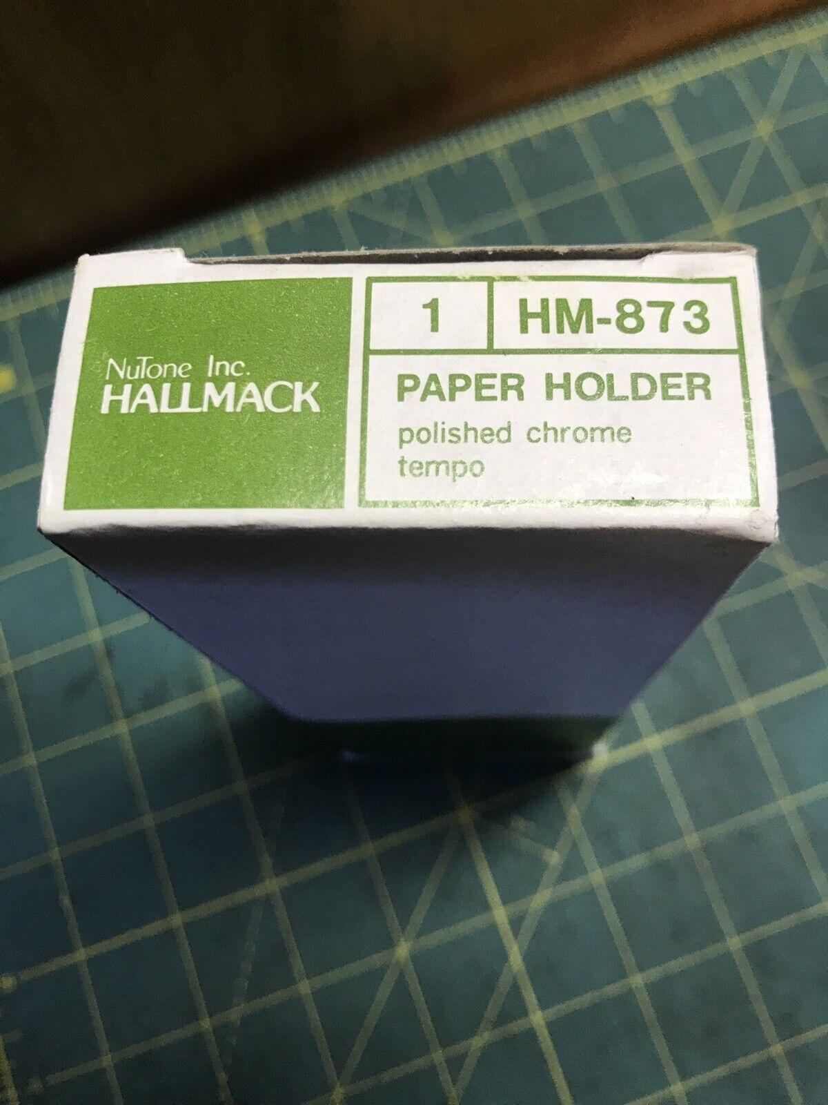 HALLMACK Tempo CHROME Toilet Paper Holder. New Free Shipping