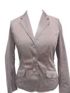 MARC-CAIN-MARCCAIN-Gorgeous-Brown-Cotton-Silk-Blend-Detailed-JACKET-SZ-N4