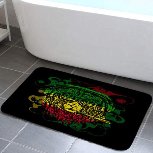 Sheep Smoking Marijuana Shower Curtain Toilet Cover Rug Bath Mat Contour Rug Set