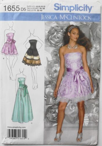Simplicity 1655 Misses Special Occasion Dresses Sewing Pattern Sz 4-12