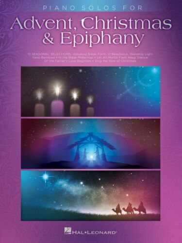 Piano Solos for Advent Christmas /& Epiphany Sheet Music Piano Solo 000236689