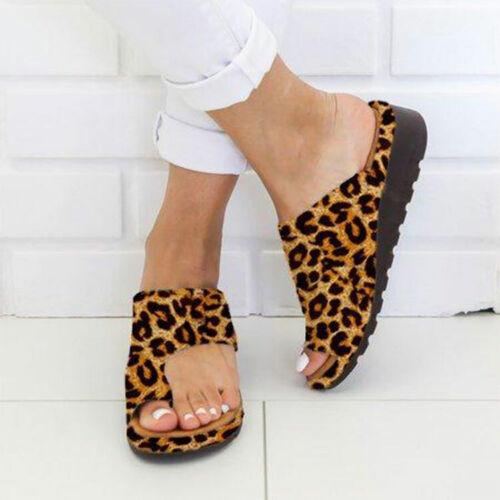 7 Colors Women PU Leather Beach Sandals Comfy  Shoes Bunion Corrector