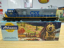Athearn HO Scale CSX SD-70 MAC Powered Diesel, Good C-7 Condition, Missing Door