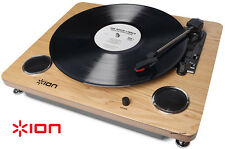 Ion Archive LP Record Player Digital Conversion Turntable Speakers Wood 33 45 78