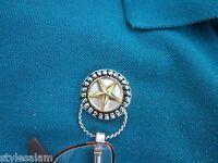 Eyeglass Holder Magnetic Western Style Lone Star Goldtone/silvertone On Card