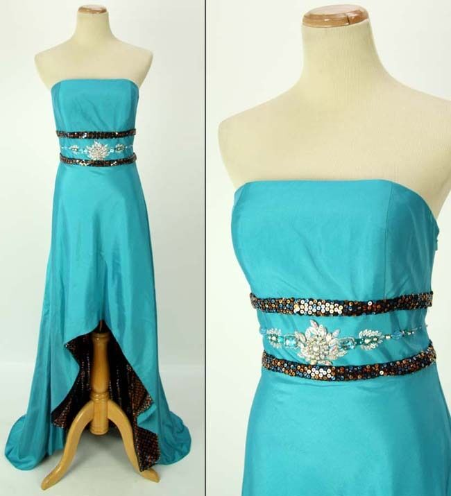 PARTY TIME Prom Evening Dress Formal Size 8 Long Ball Gown NWT  High Low