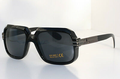 Cazal Gazelle Style SunGlasses /w Metal Accents Run Dmc Black lens gunmetal New