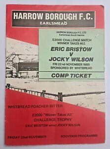 Eric Bristow & Jockey Wilson Autographed Programme