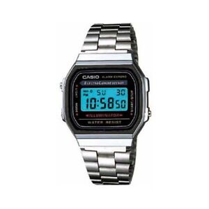 b3777994106 Casio Men s Quartz Digital Alarm Silver-Tone Bracelet 32Mm Watch ...