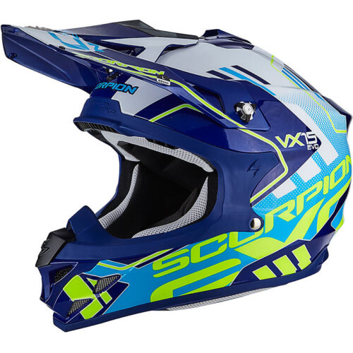 Casco Moto Cross Scorpion SC-35-246-203 Argo Blu
