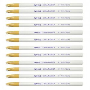 White China Markers Wax Pencils 12-Pack