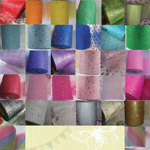 Tulle-glitter-1m-2-5-10m-metre-65-colours-6-034-15cm-sparkle-NET-crafts-fabric-tutu