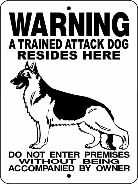 "POLICE K-9 WARNING DOG  ALUMINUM SIGN 12/"" X 9/""  SPANISH  H3391SP"