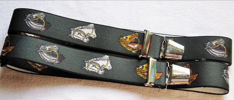 Pferde Hosenträger extra stark extra lang 4 stabile Clip waschbar 40°