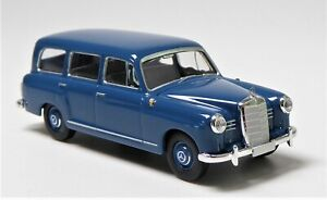 H0-BREKINA-Starmada-Mercedes-Benz-180-Kombi-azurblau-Sitzbank-Lederoptik-13451