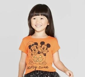 Nwt-Disney-Mickey-And-Minnie-Mouse-3T-Halloween-Scary-Cute-Shirt