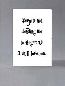 Details About Mother S Day Father For Mum Dad Harry Potter Hogwarts Greeting Card