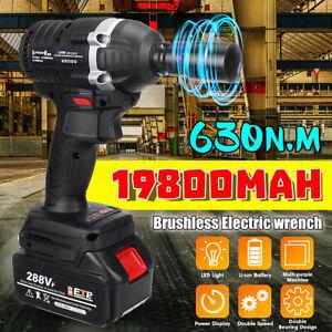 Cle-a-choc-Sans-Fil-Boulonneuse-Brushless-visseuse-630N-m-288VF-Li-ion-Batterie