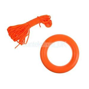 17m Lifeguard Strong Reflective Life Saving Rope Float Line Camping D OF E