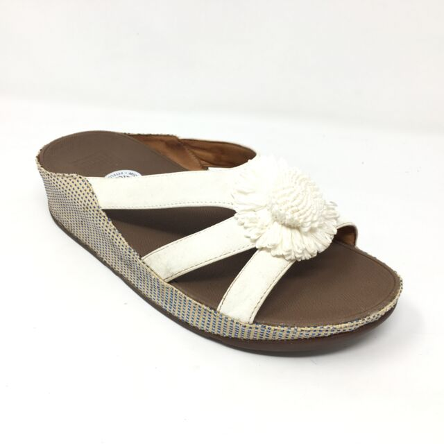 68c7a52ecc6af Women s Fitflop Rosita Flip Flops Sandals Shoes Size 7 Walking Wedge Floral  S8
