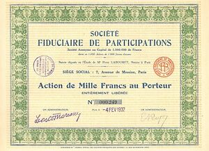Societe-Fiduciaire-de-Participations-SA-accion-Paris-1932