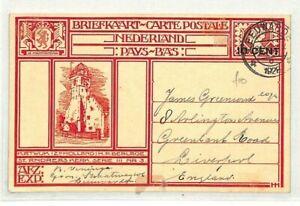 Pays-bas * Leeuwarden * Gb Liverpool Postcard Cover 1928 {samwells Couvre -} Cg195-covers} Cg195fr-fr Afficher Le Titre D'origine