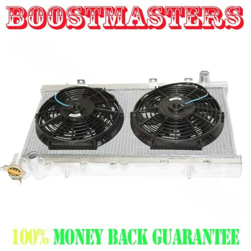 """For 91-99 Nissan Sentra MT ONLY Dual Core Performance RADIATOR+10/"""" Fans"""