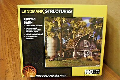 WOODLAND SCENICS LANDMARK STRUCTURES RUSTIC BARN HO SCALE BUILDING KIT