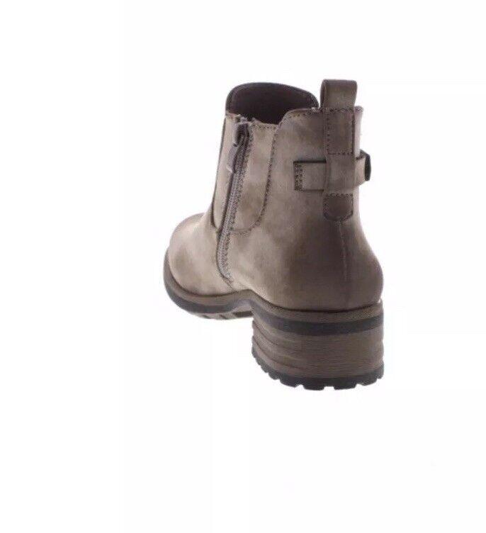 RIEKER LADIES Eu37 BEIGE ZIP Ankle Stiefel Größe Eu37 LADIES f5216a
