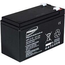 Powery Blei-Gel-Akku für USV APC Back-UPS BK650EI 12V 7,2Ah/86Wh Lead-Acid Schw