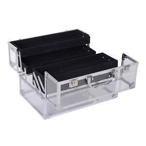 Portable-Makeup-Case-Train-Case-Lockable-Aluminum-with-4-Trays