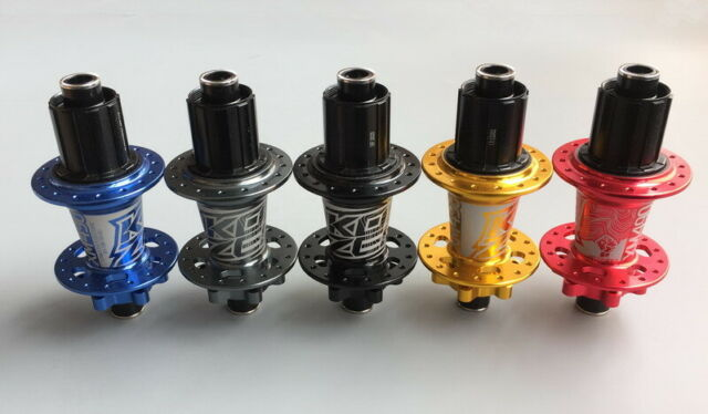 KOOZER Rear Hub 32H MTB Road Bike Hubs Thru axle 142*12mm Disc brake 4 bearings