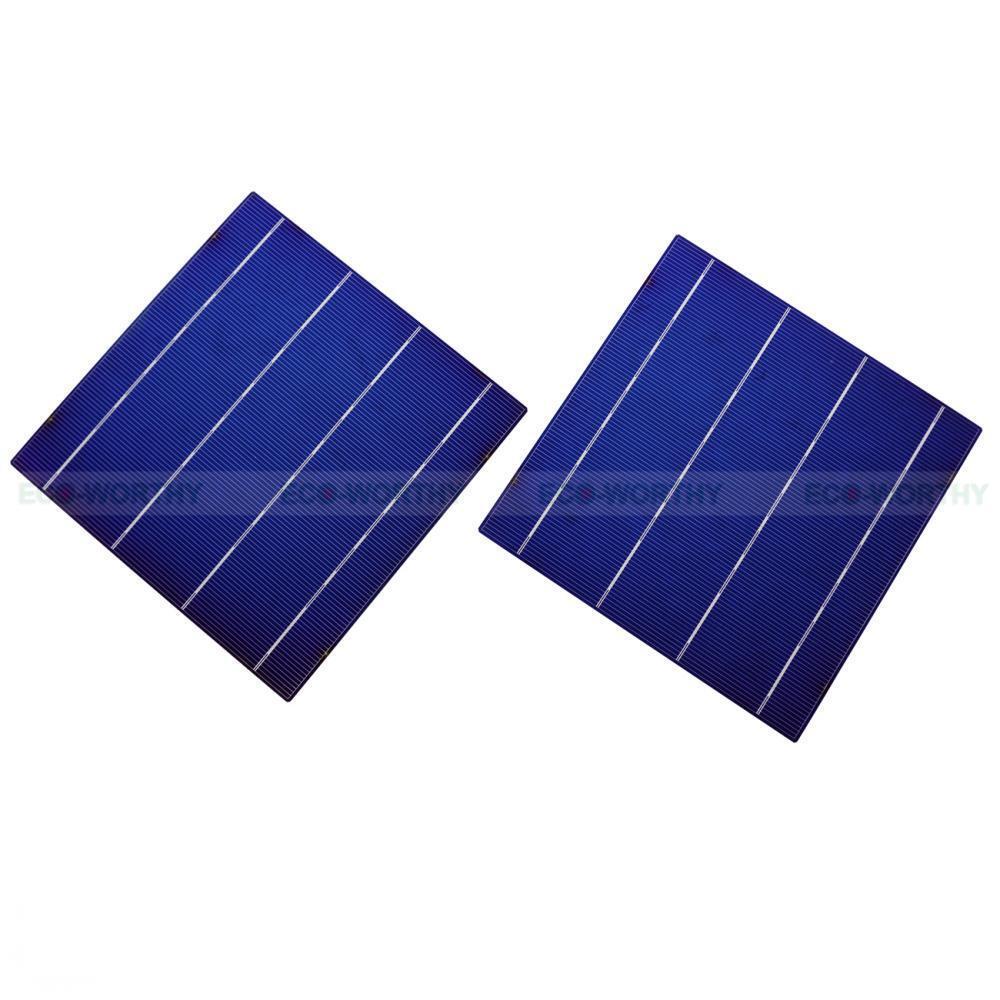 40 piezas de células Células solares de 6x6 pulgadas alta eficiencia para Bricolaje Jardín Luz Coche de juguete