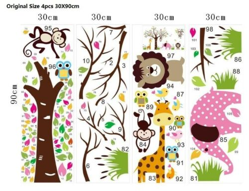 Wall Stickers Lion Elephant Giraffe Wall Tattoo Art Decal Home Decor Kid/'s Room
