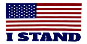 Wholesale-Lot-of-6-USA-American-Flag-034-I-Stand-034-White-Bumper-Sticker