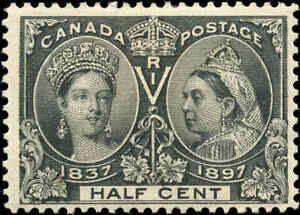 1897-Mint-H-Canada-1-2c-F-Scott-50-Diamond-Jubilee-Issue-Stamp