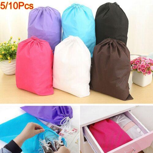 Lot Portable Non-woven Shoes Bag Travel Sport Storage Pouch Drawstring Dust Bags