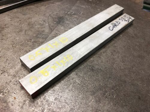 """1//2/"""" 0.5/"""" x 1/"""" x 5/"""" Long 304 Stainless Steel Plate Flat Bar Stock"""