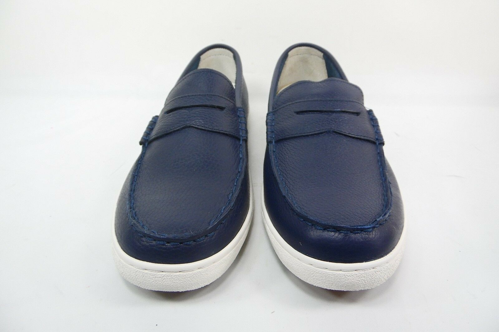 COLE HAAN Men's Pinch Weekender  Navy Leather White Size 10M