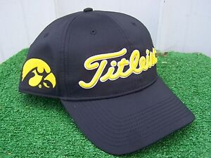 0c958401d31 Image is loading Titleist-Iowa-Hawkeyes-Performance-Adjustable-Snap-Back- NCAA-