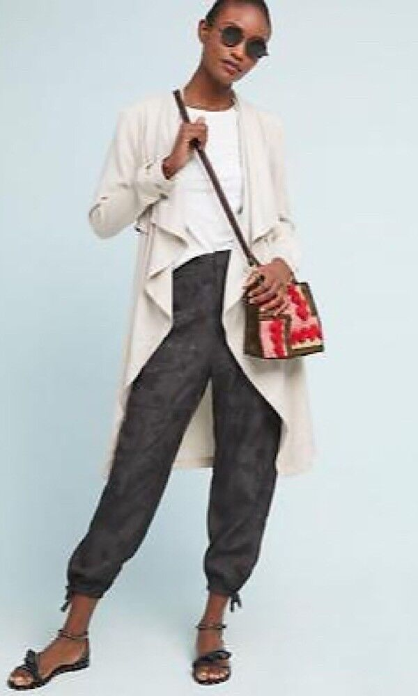 NWT NEW  Anthropologie Silky Utility Pants Sz L fit XL Runs big