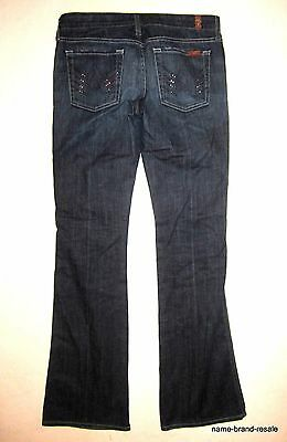7 For All Mankind A POCKET Jeans Womens 28 Purple CRYSTAL Pockets Denim Bootcut