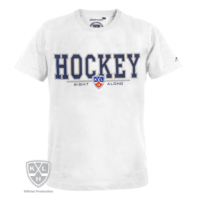 "Hockey-other Fan Apparel & Souvenirs Constructive Khl ""hockey Right Along"" T-shirt White Wide Varieties"